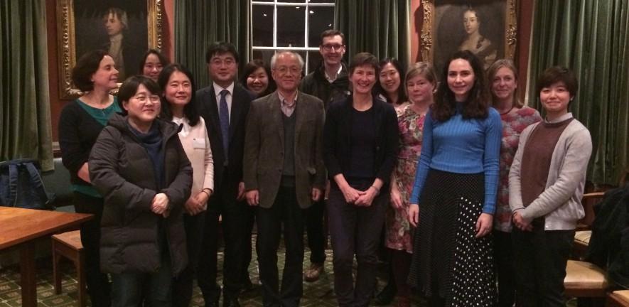 Group photo of Korean visit